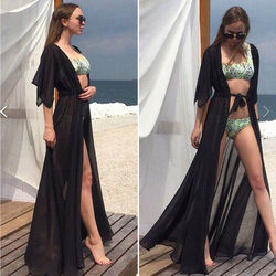 Beach Cover up Solid long Bikini Cover up Tunic for Beach Swimsuit cover up Sarong Saidas Beach wear