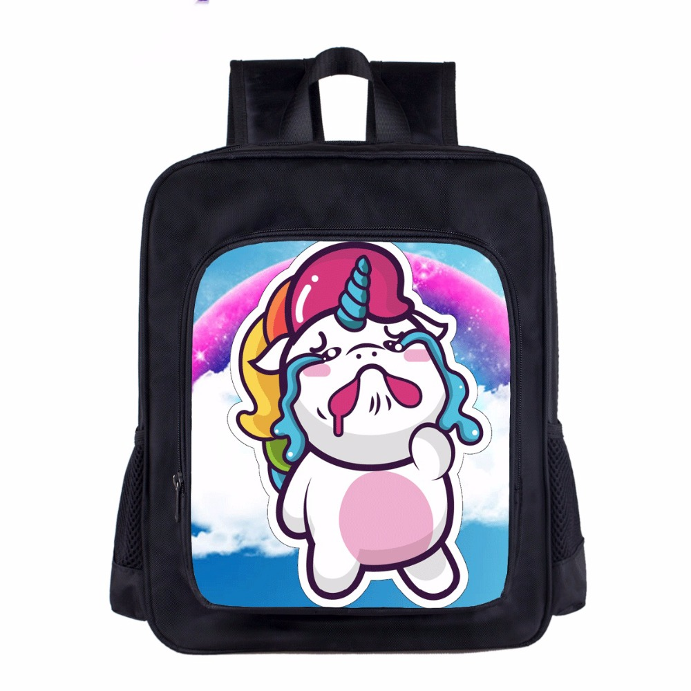2018 Unicorn Printing Kawaii Pony Backpacks for Teenager School Toddlers Kindergarten 14 inch Kids Bag