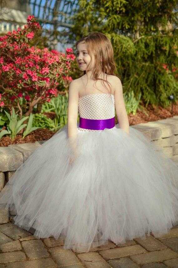 3e1a0c8e6faed ... wedding dress tedarikçilerden Gri kanat beyaz tül gelinlik çiçek kız  bebek gelinlik kabarık balo doğum günü kostüm bez tutu parti elbiseler  Satın Alın