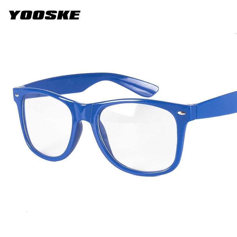 d6411d662a50f YOOSKE Moda Masculina Mulheres Vidros Ópticos Quadro Marca de Óculos Com  Vidro Transparente Claro Transparente Armações de Óculos Dos Homens das  Mulheres