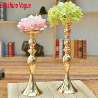 Gold wedding candle holders Europe style flower vases 3pcs/set home decoration party/dinnerware Express free shipping