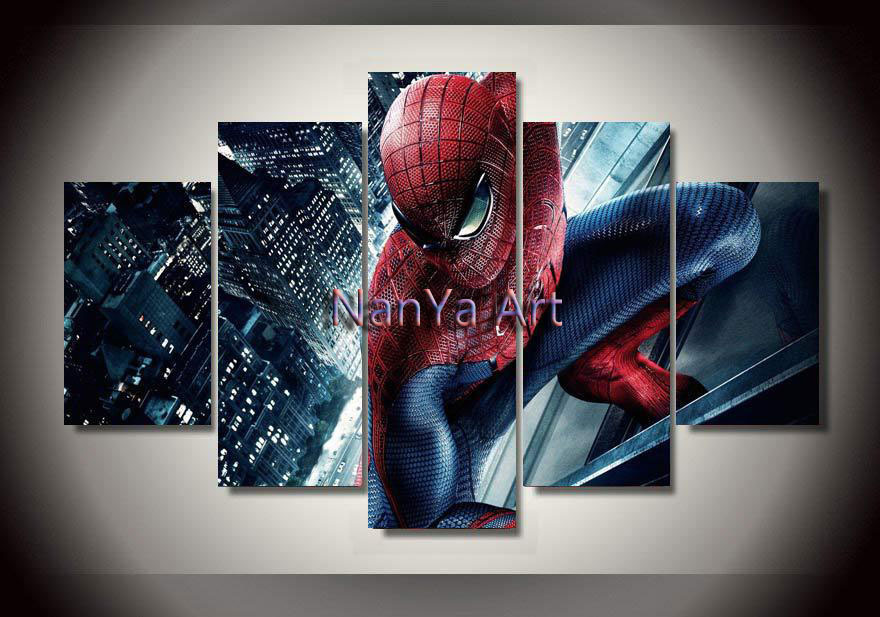 Spiderman Wall Art aliexpress : buy 2015 spiderman home decor canvas painting