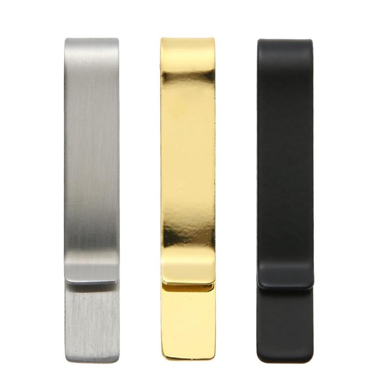 1 Stück Praktische Metall Edelstahl Einfache Geld Clip Halter Ordner Kragen Clip Dollar Bargeld Clamp Halter Brieftasche Für Männer Frauen