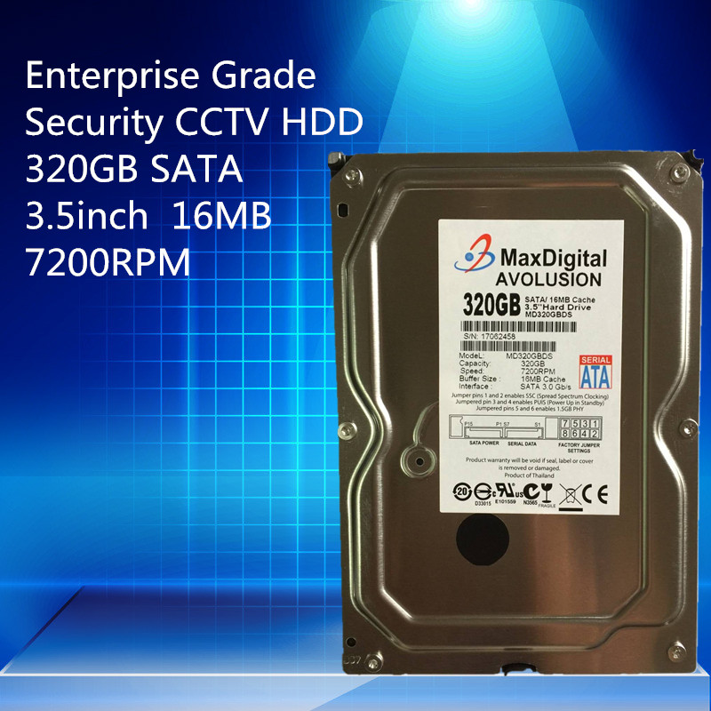 320GB HDD SATA 3.5 Enterprise Grade Security CCTV Hard Drive Warranty for 1-year hard drive for hts543232a7a384 2 5 320gb 5 4k sataii well tested working