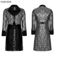 2018 Punk Rave Gothic Steampunk Victorian Gorgeous Fashion Party Swallow Tail Floral Palace Men's Coat Jacket WY922