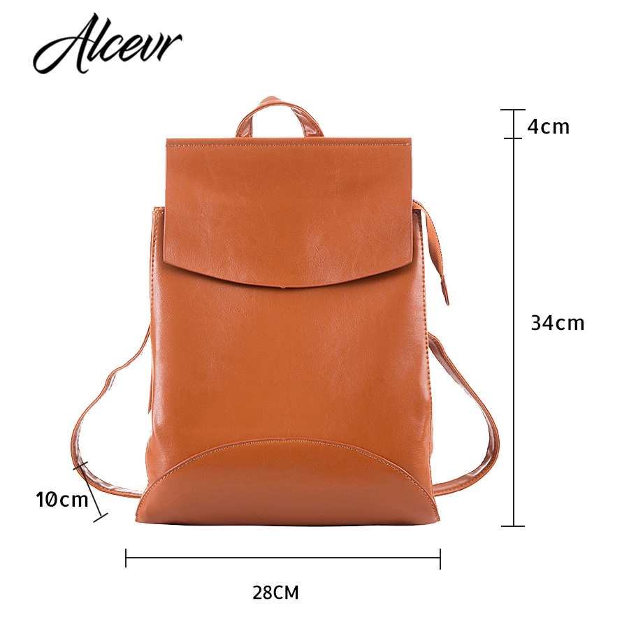 Alcevr Fashion Women Backpack High Quality Youth Leather Backpacks For Teenage Girls Female School Shoulder Bag Bagpack Mochila #2