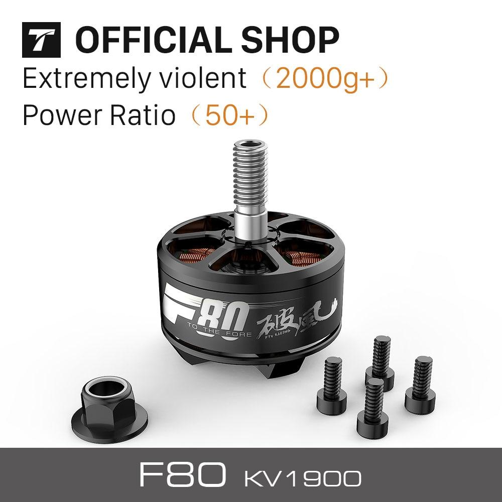 T-MOTOR New Brushless F80 KV1900 ( 2PCS/SET) For FPV Racing Motors 2pcs kv b16ra