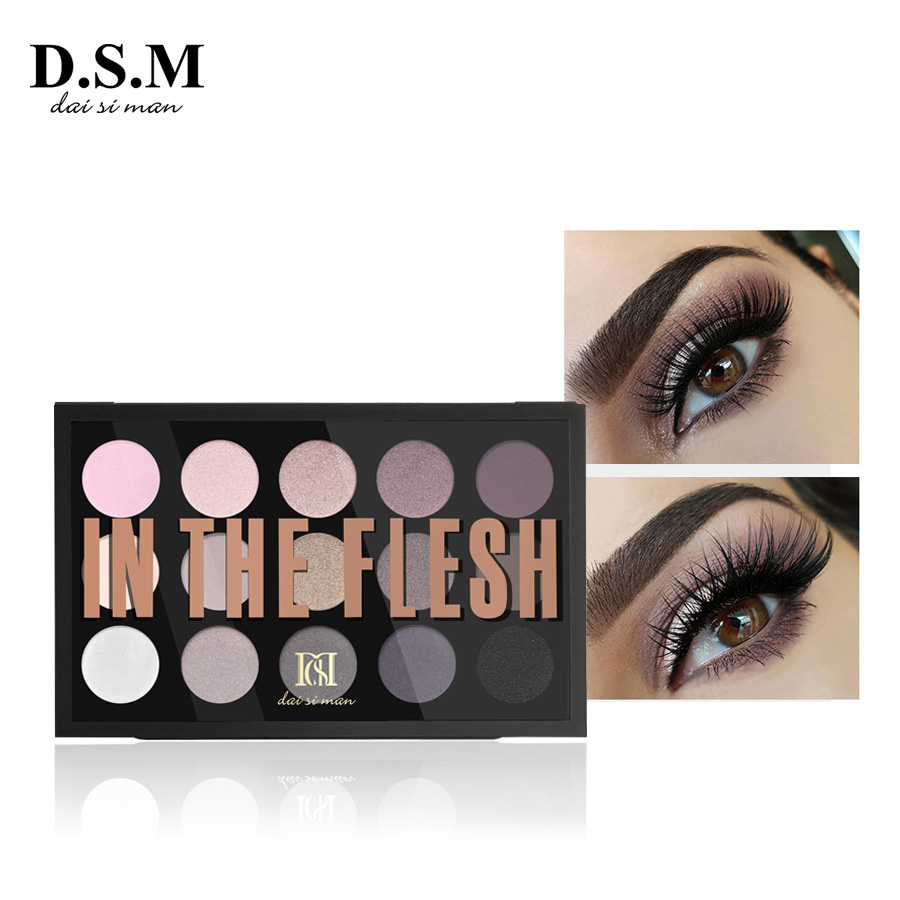 D.S.M Professional Eye Shadow 15 Colors Neutral Shades Multiple Looks Full-sized Shadows Cosmetics Makeup Eyeshadow Palettes