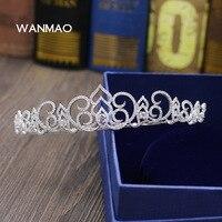 Nowa luksusowa zircon korona korona tiara wysokiej klasy suknia ślubna dla nowożeńców akcesoria ślubne akcesoria do włosów HA20188