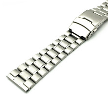 HQ Stainless Steel Watchband 20mm 22mm 24mm Silver Solid Link Watch Band Strap Replacement Bracelet for Men Women 3 Spring Bars цена