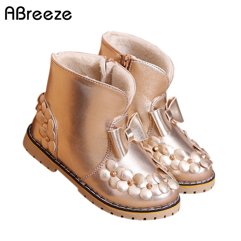 New autumn winter children boots fashion PU waterproof boots for girls 3-8T flat with kids snow boots warm girls shoes стоимость