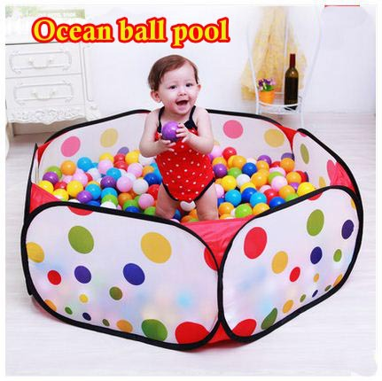 90CM KID PORTABLE FOLDING OUTDOOR & INDOOR PLAY GAME HOUSE CHILDREN POP UP TENT BALL PIT TOYS BALLS FOR POOL CHILDRENS PLAYPEN