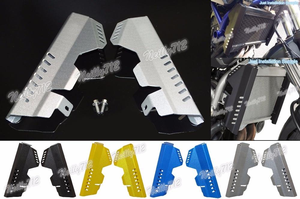 подчиняются 2мм толщиной радиатора Сторона гвардии Крышка протектор для YAMAHA МТ-07 ФЗ-07 MT07 FZ07 2014 2015 2016