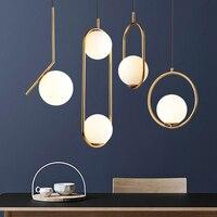 modern led chandelier Nordic Golden glass ball chandelier For Living Room Bedroom Home Chandelier ceiling Fixtures Free Shipping