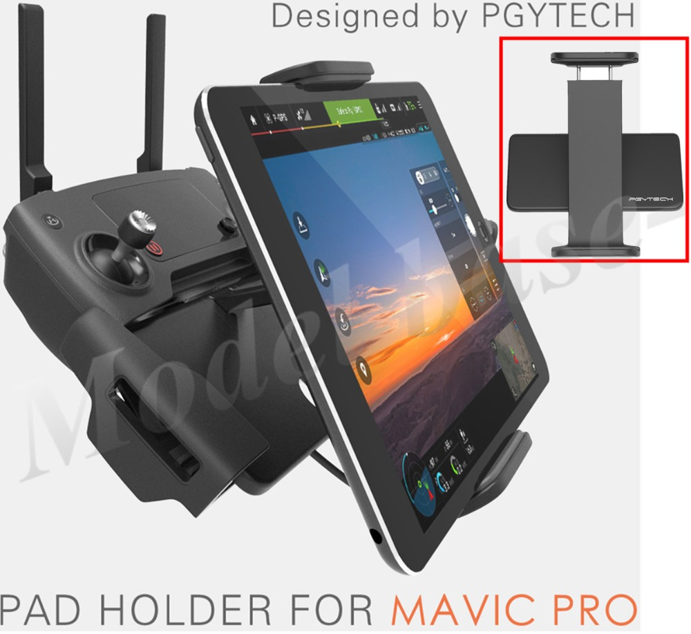 PGY DJI Mavic Pro remote control Accessories 7 10 Pad Mobile Phone Holder aluminum Flat Bracket