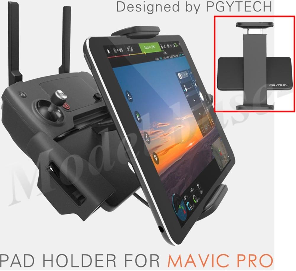 Pgy DJI Mavic pro/Spark/Mavic aire control remoto 7-10 pad teléfono móvil titular de aluminio plana soporte tablte Stander partes