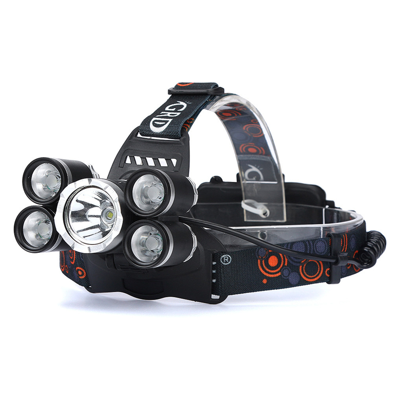 New 35000LM T6 Led Headlamp Headlight Waterproof Head Torch flashlight Head lamp by 18650 Battery Bicycle Light #FS#4MY11