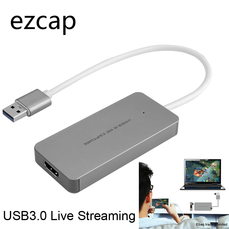 2018 NEW USB 3.0 Capture HDMI to USB3.0 Game Live Streaming Video Capture Dongle with USB3.0 Cable For PS3 PS4 For XBox one