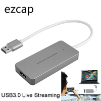 EZCAP USB 3.0 Video Capture Card HDMI to USB3.0 TV BOX Camcorder Game Live Streaming Recording Dongle For PS3 PS4 XBox one Phone