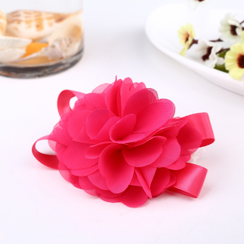 Zilue 50pieces / lot Prom corsage Wrist Flower 5 colores Accesorios - Para fiestas y celebraciones - foto 5