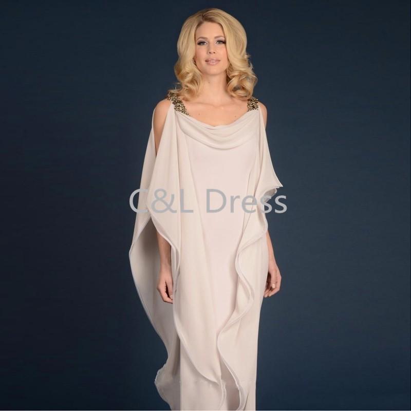 Grecian Goddess Chiffon Mothers Dress With Straps Floor Length Long Elegant Women Dress Mother of the bride groom Dress (2)