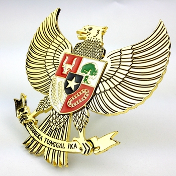 3D Metal Indonesia Eagle Grills Emblem Sticker For All Car