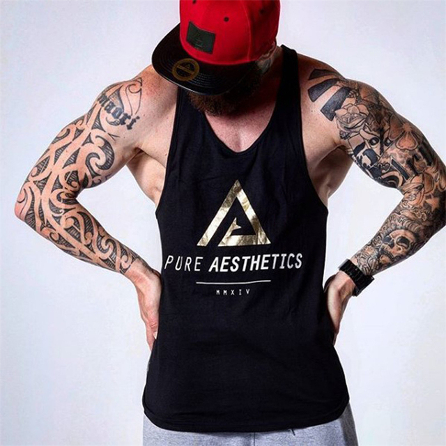 771fe9ddf9d8b Nwe Summer Fitness Tank Top Gyms bodybuilding Workout Crossfit Clothing  Cotton Sleeveless Shirt Man Jogger Casual Sling Vest
