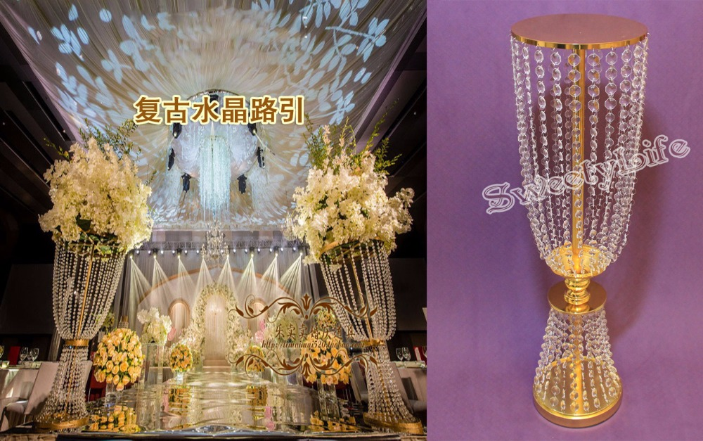 Aliexpress buy gold wedding centerpiece acrylic bead