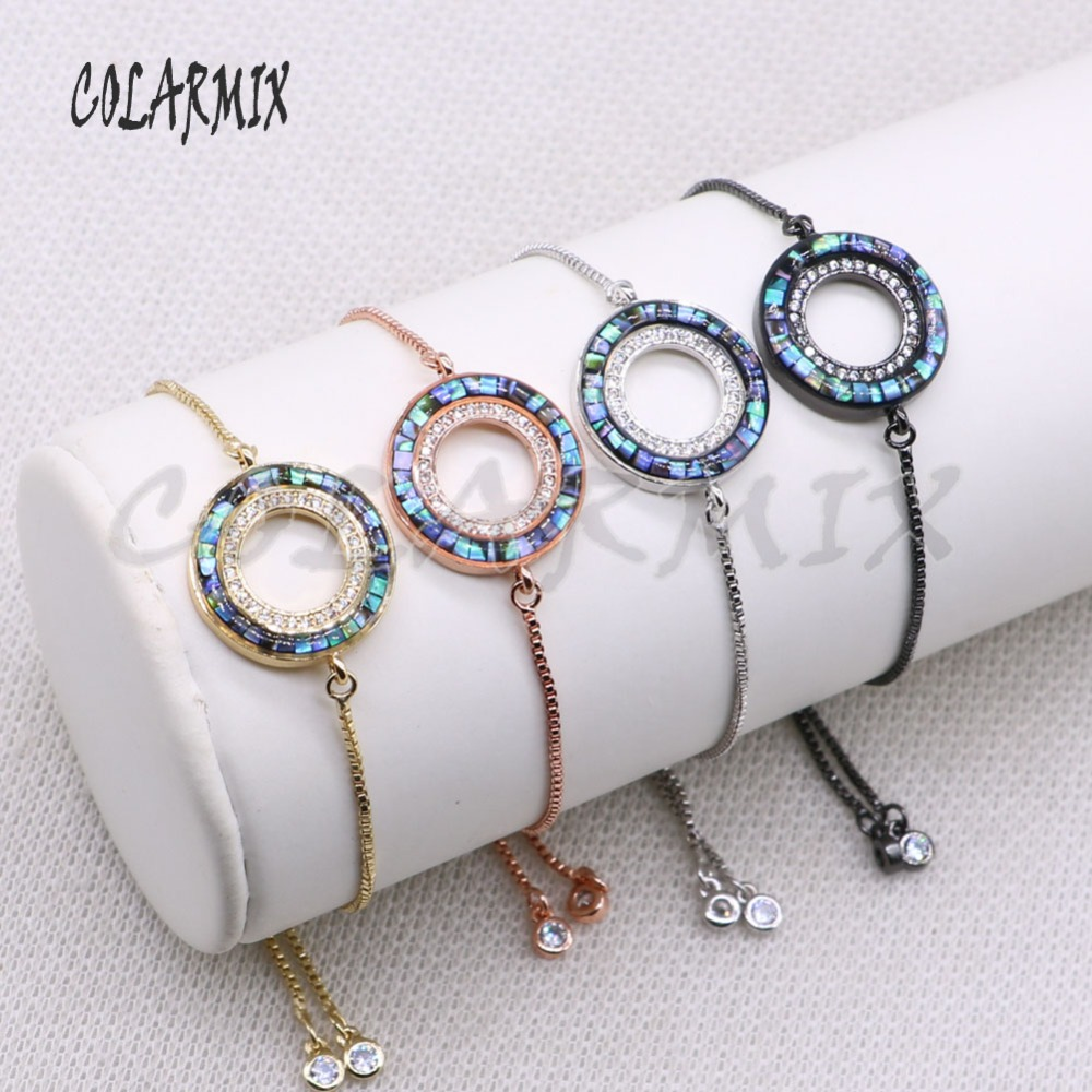 Hollow Circle charms Bracelet Fashion jewelry Bracelet charms Mix color Gift for lady