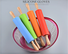 Rolling Pin New Cake Fondant Paste Stick Silicone Sugarcraft tools Baking Tool Mold