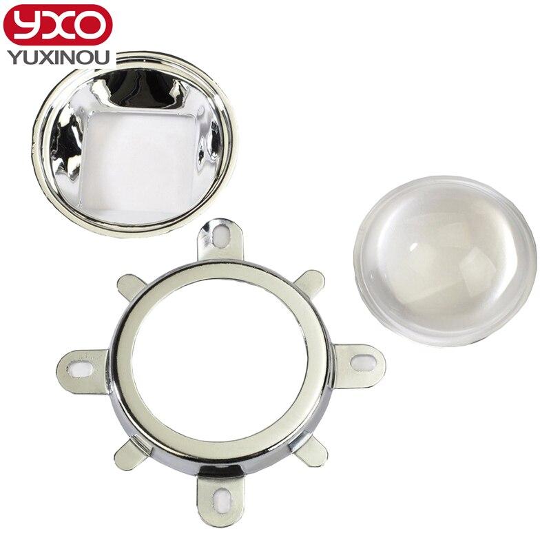 2016 20w 50w 100w Led Beads 44mm Lens + Reflector Collimator Fixed Bracket for diy led grow aquarium light