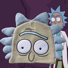 Anime Rick and Morty Hats Cosplay Costume Accessories Cartoon Warm Beanie Caps Carnival Christmas Party Dropship