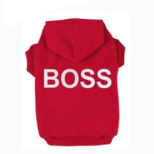 BOSS Printed Pet Puppy Dog Clothes Hoodies Jumpers Tracksuits for Chihuahua Teacup Care and Large Dogs 7 Sizes