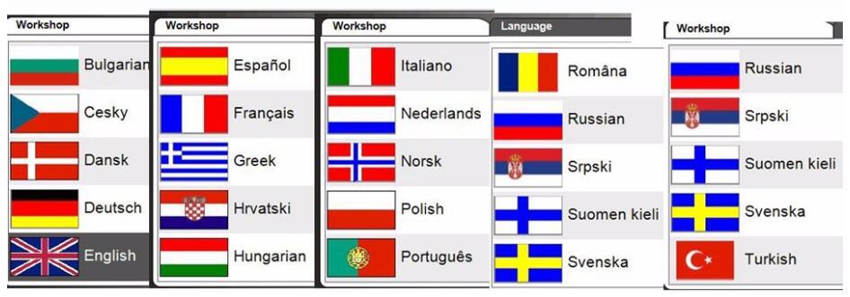 DS CDP TCS 150 Language