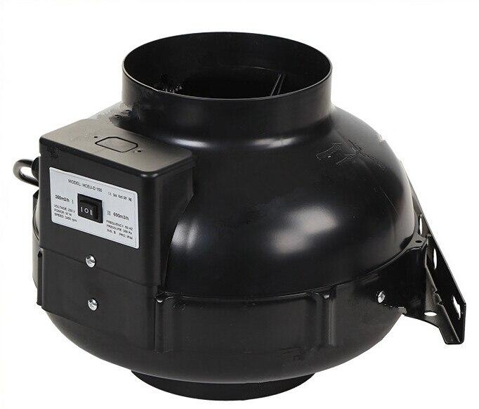 8 дюймов металлический корпус Встроенный вытяжной вентилятор центробежный вентилятор для компьютера и Угольный воздушный фильтр и воздуховод для полных комплексы плантаций выращивания теплицы