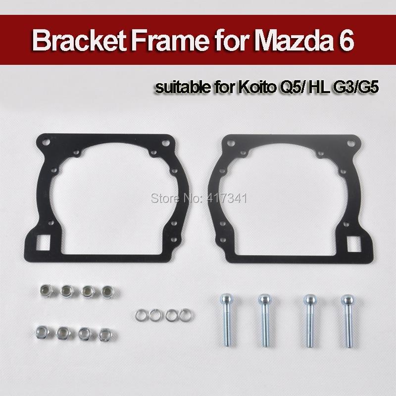 Bracket Holder Transition Frame for Mazda 6 to Replace Q5 Koito HL G3/G5 HID Bi-xenon Projector Lens Headlight Retrofitting