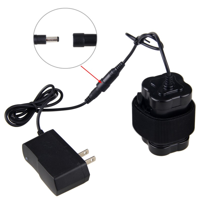 Black Rechargeable 12000mAh 8.4V 4x18650 Battery Pack With 8.4 V Charger For Bike Light Cycling Accessories