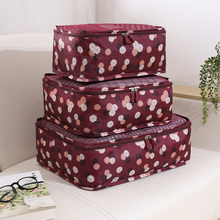 6pcs/set Travel Organizer Storage Bags Portable Luggage Organizer Clothes Tidy Pouch Suitcase Packing Laundry Bag Storage Case