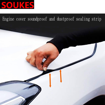 цена на Rubber Car Head Hood Edge Sound Seal Strip Sticker For Volkswagen VW Polo Passat B5 B6 CC Golf 4 5 6 7 Touran T5 Tiguan Bora