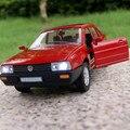 Regalo para el niño 1:32 14.2 cm Volkswagen Poussan coche Santana souvenir vehículo creativo modelo de la aleación acustóptica tire hacia atrás juguete juego