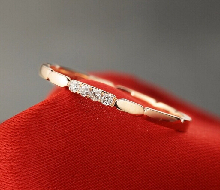 925 sterling silver ring jewelry fashion personality 18K rose gold man made diamond wedd ...