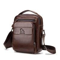 Cow Genuine Leather Shoulder Bags Men Travel Business Crossbody Bag for Man Handbags Messenger Fashion Retro Men Small Bag