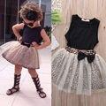 2016 del verano muchachas del niño vestido de ropa juego de los niños para la muchacha ropa fijada conjunto vetement fille infantils