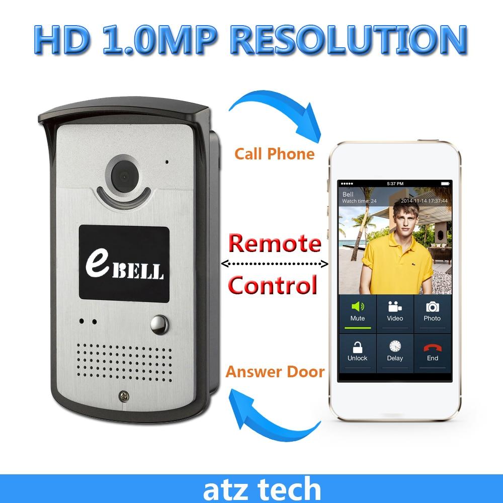 Ebell DBV03P 720p Wifi Video Doorbell Wireless Ip Video Door Intercom  Support 64G TF Unlock Electric Door Lock With Smartphone In Access Control  Kits From ...