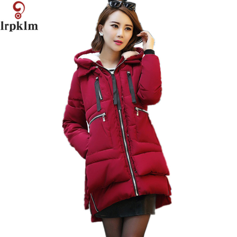 New 2017 Winter Women Jackets Cotton Padded Medium Long Slim Hooded Parkas Casual Wadded Quilt Snow Outwear Warm Overcoat LZ201 msfilia new winter coat warm slim women jackets cotton padded medium long thick hooded parkas casual wadded fleece outwear
