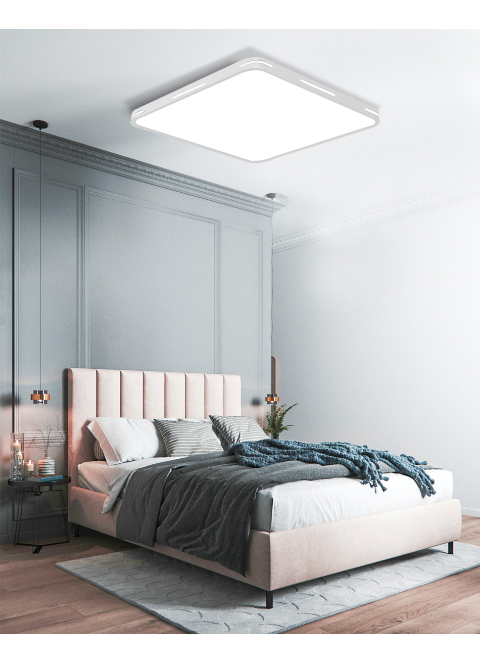 HTB1dtyiXebviK0jSZFNq6yApXXa8 Modern LED Ceiling Light Lamp Lighting Fixture Surface Mount Flush Remote Control Dimmable 18W 48W Living Room Bedroom Balcony
