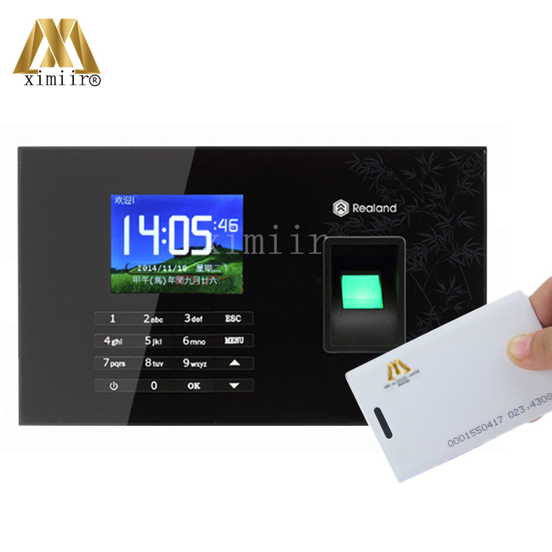 Economical 32bit CPU A-C051 Fingerprint & Password & RFID Card Time Attendance Time Clock Recorder With USB,TCP/IP Communication