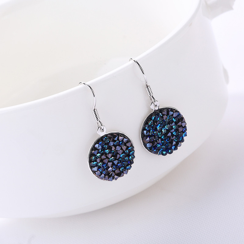 Ms betti new arrival round drusy earring for women Crystals from SWAROVSKI cheap price wholesale new arrival wholesale