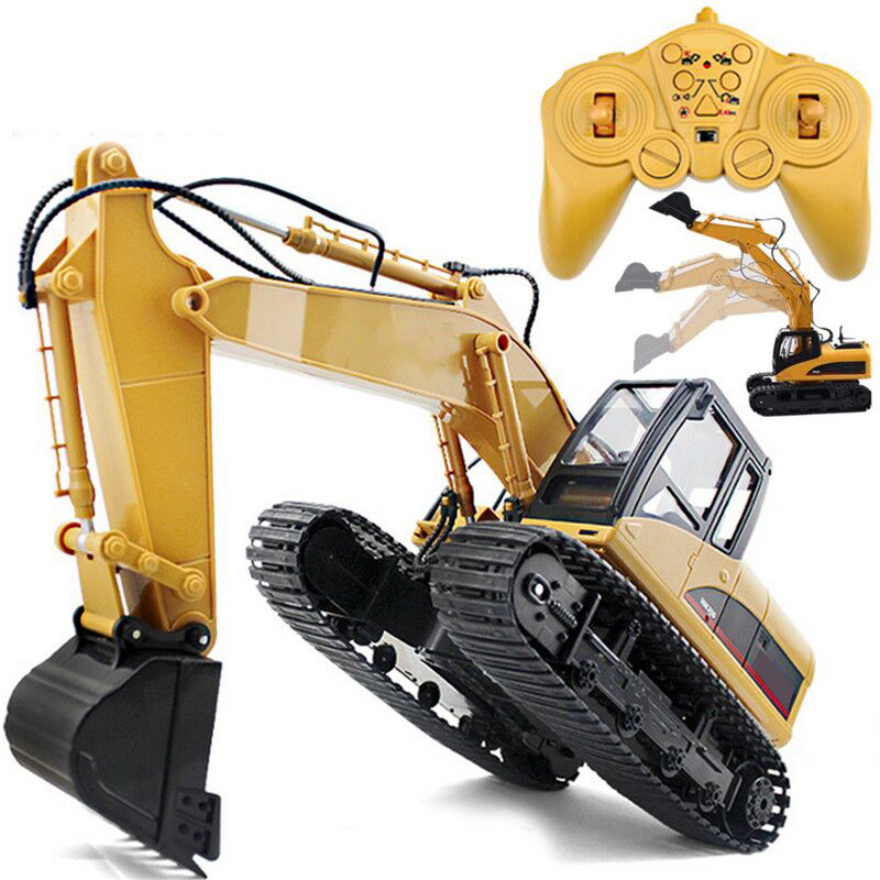 1:14 Scale 2.4GHz 15 Channel RC Car Excavator RTR Auto Demonstration Model Remote Control RC Truck Engineering Vehicle Toy Gift children s electric educational remote control excavator model 2 4g remote control rc construction vehicle engineering truck toy