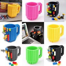 350ml Creative Milk Mug Coffee Cup Creative Build-on Brick Mug Cups Drinking Water Holder for LEGO Building Blocks Design(China)